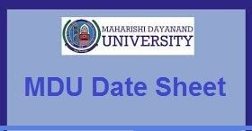 Mdu Rohtak Dde Date Sheet  BaBScBCom StNdRd Year