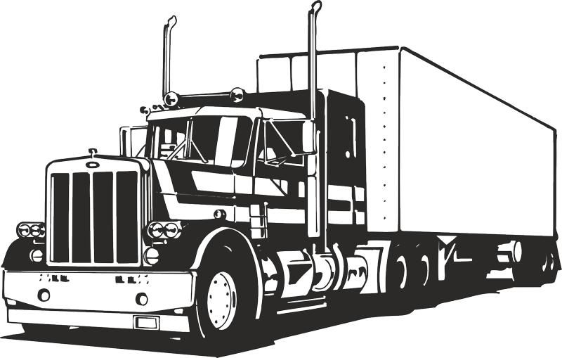 Truck Silhouette Vector Free Vector Cdr Download Semi Trucks