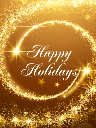 Golden seasons greetings card celebrate the holidays with this golden seasons greetings card celebrate the holidays with this golden seasons greeting card the light and dark gold background is filled with bursts of m4hsunfo