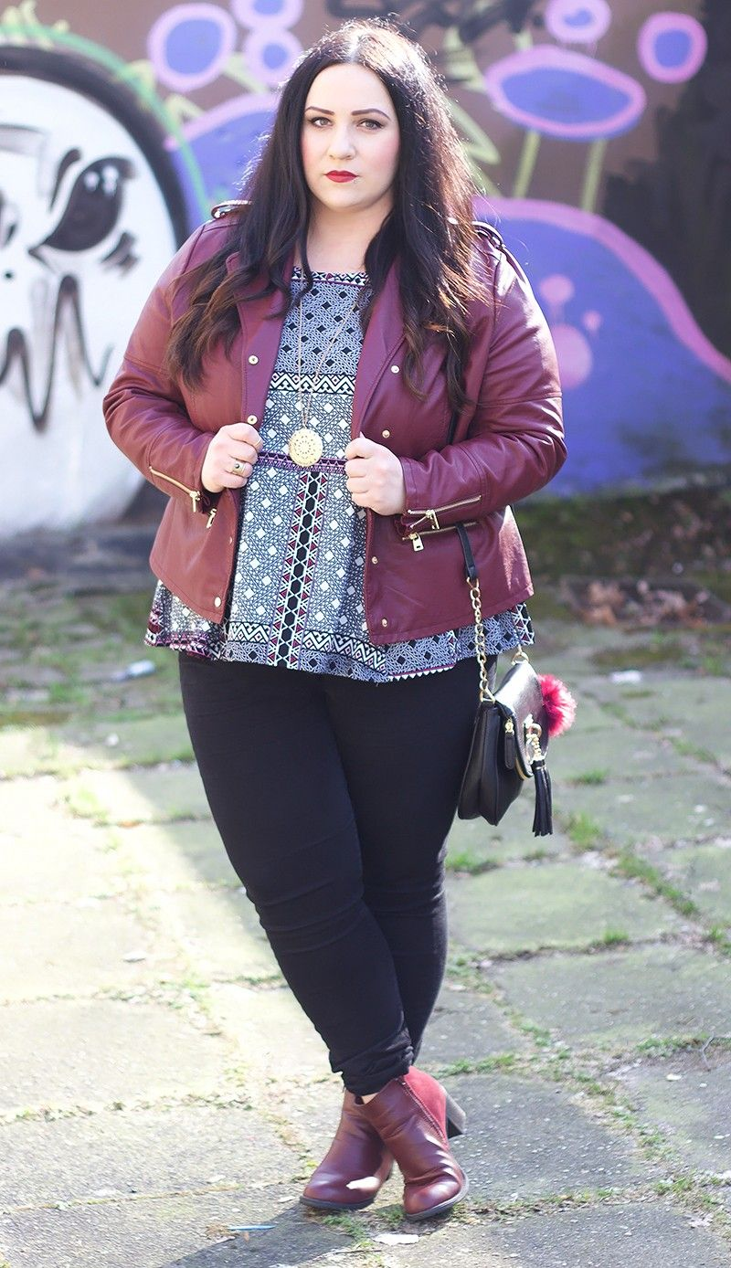 Plus Size Berry Look