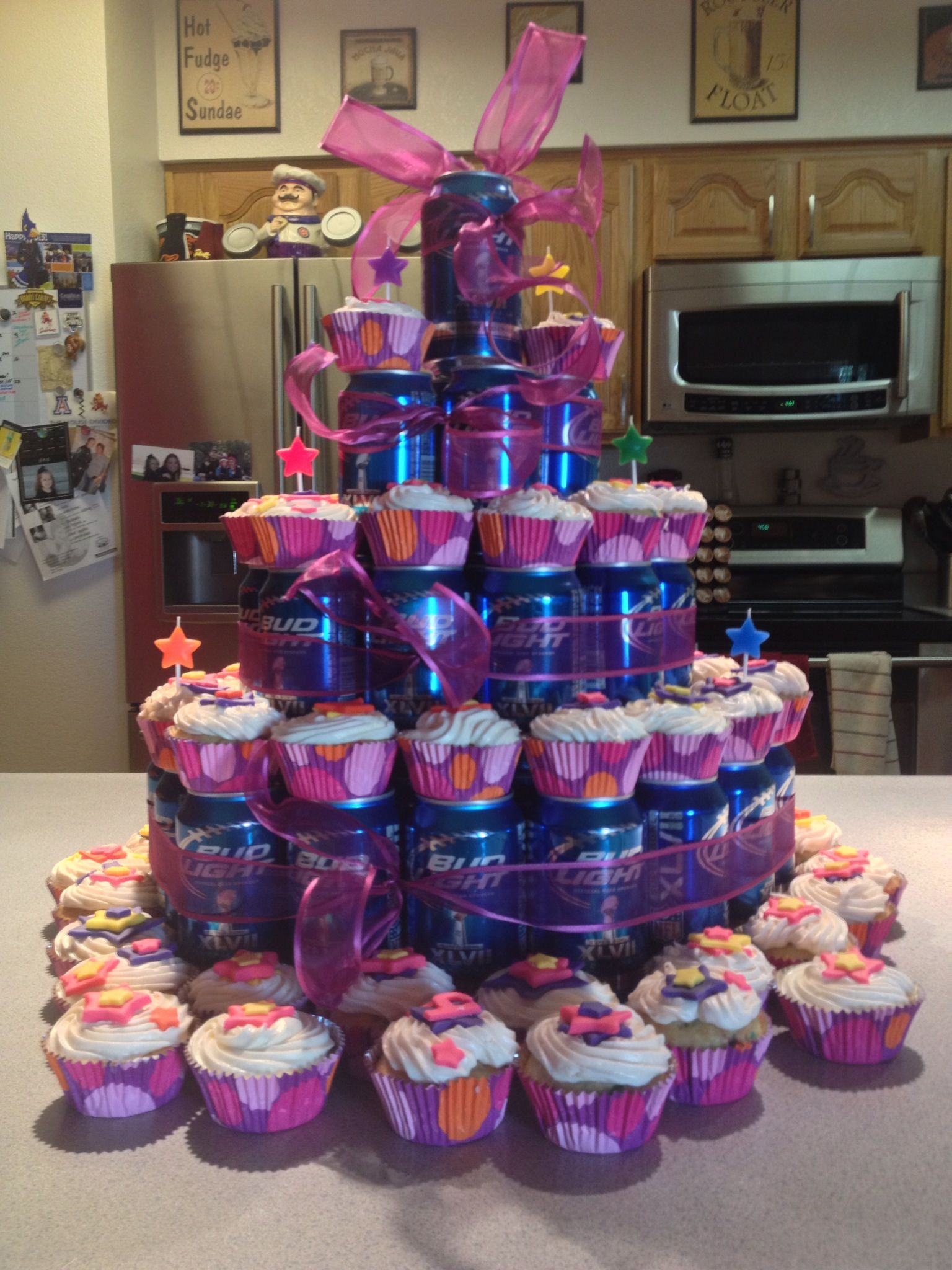 Beer Cup Cake Happy Birthday Holder Kellymcclory