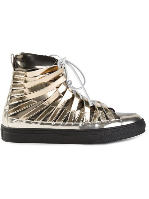 3aba452d0c2d Shop Damir Doma  Falco  hi-top sneakers in Les Market from the world s best  independent boutiques at farfetch.com. Over 1000 designers from 300  boutiques in ...