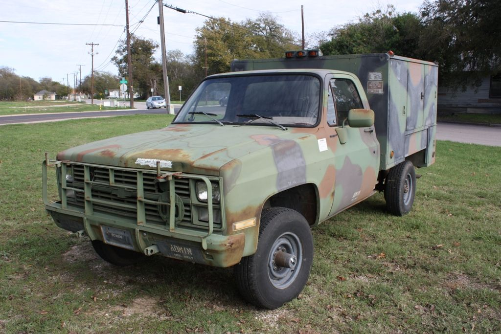 Chevrolet Cucv M1031 4x4 Military Truck For Sale Texas Trucks