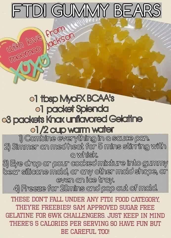 Bcaas Gummy Bears Ftdi Bear Recipes Gummies Recipes