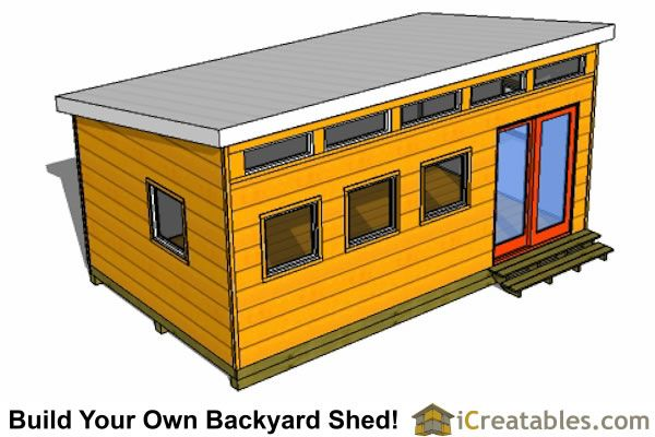 12x20 modern office shed Sewing building 2016 dream Pinterest