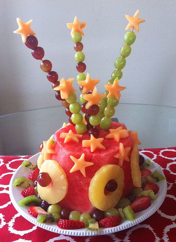 My sons fruit birthday cake Easy and guiltfree Braydens