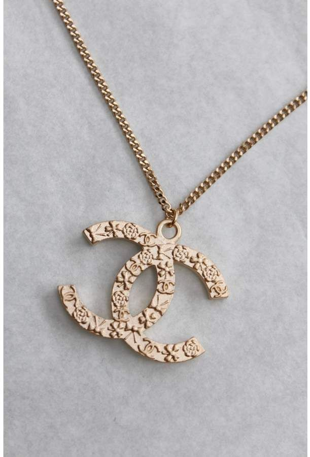 Chanel Cc Gold Metal Necklace Women Accessories Jewelry Womens Jewelry Necklace Women Jewelry