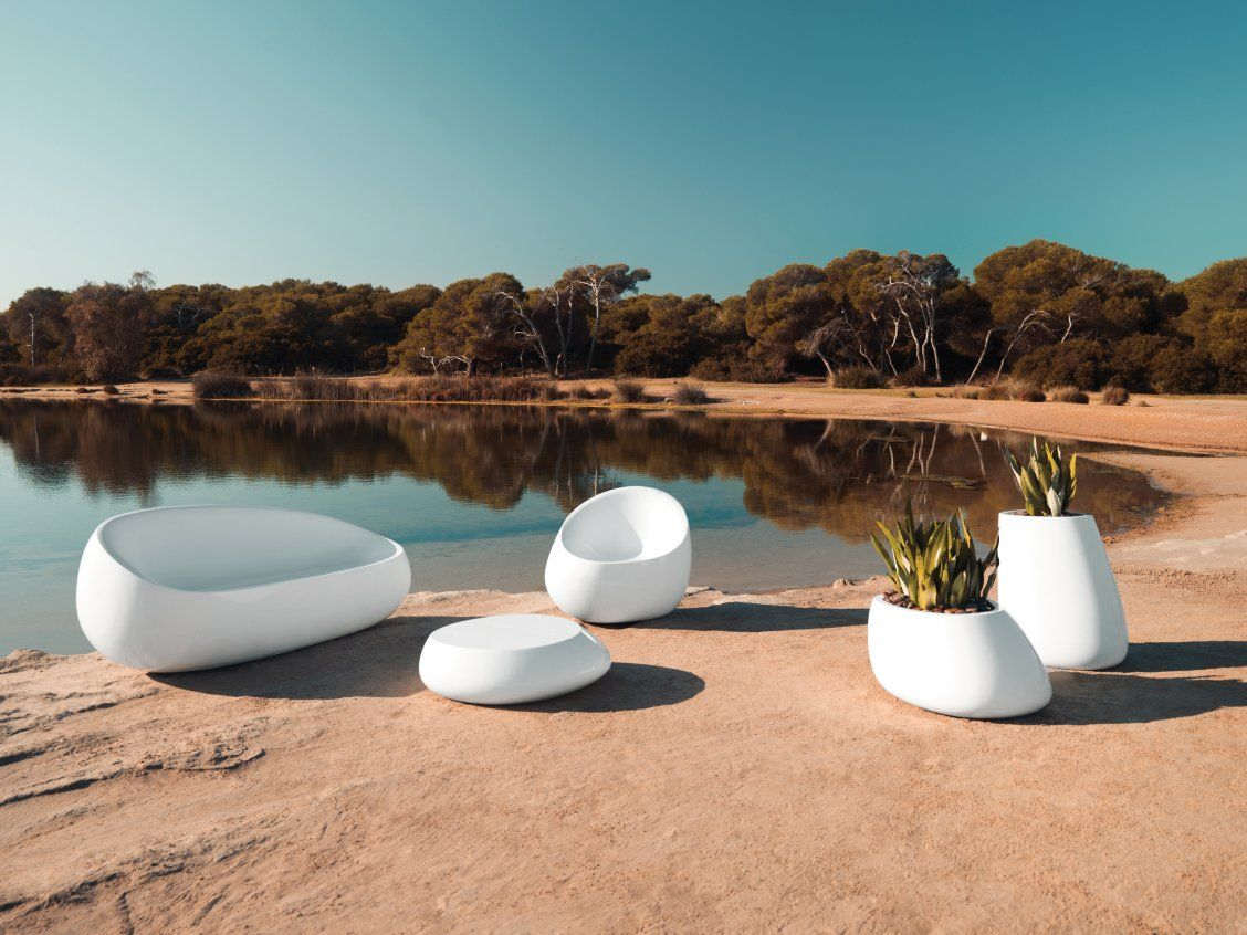 Stone Lounging Collection White Outdoor Furniture Luxury
