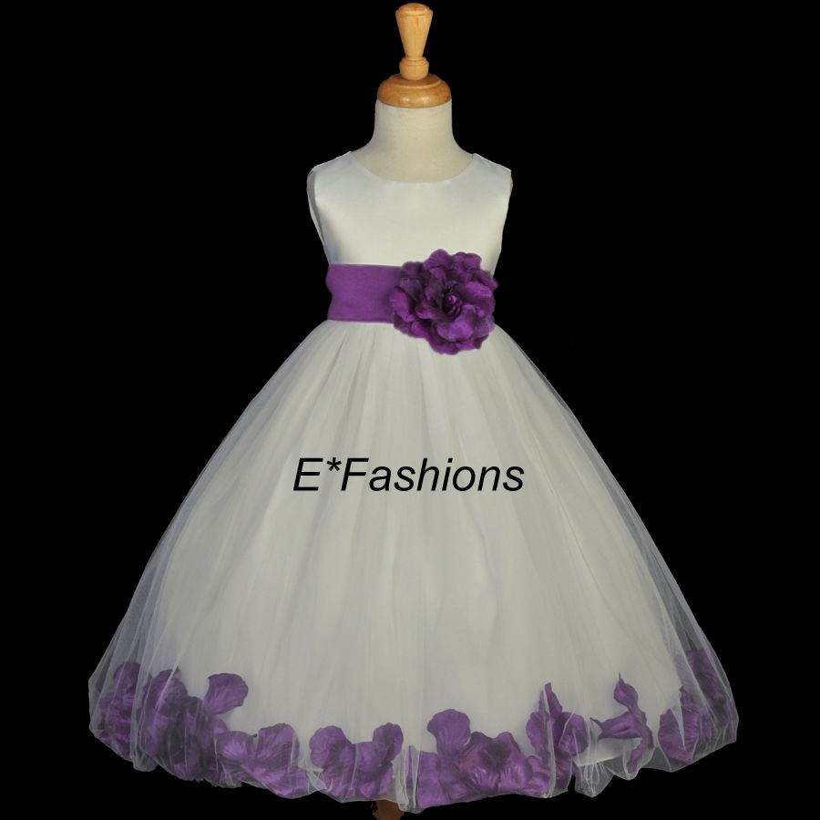 1000  images about Purple flower girl dress on Pinterest - Satin ...