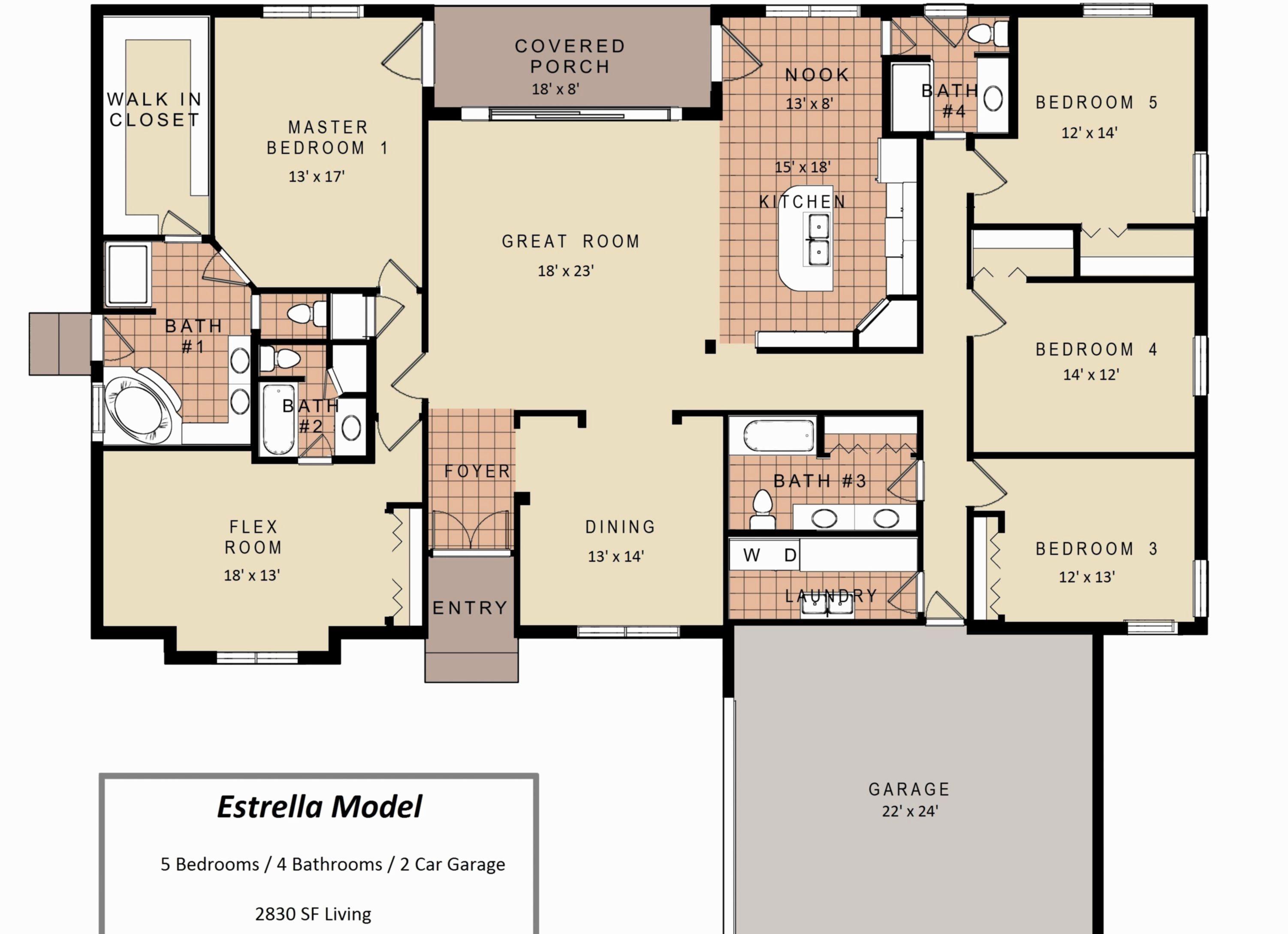 Inspiring Best 3 Bedroom Floor Plan Ideas With Best 25 Pictures Https Hroomy Com Building Archite 5 Bedroom House Plans Bedroom Floor Plans Ranch House Plans