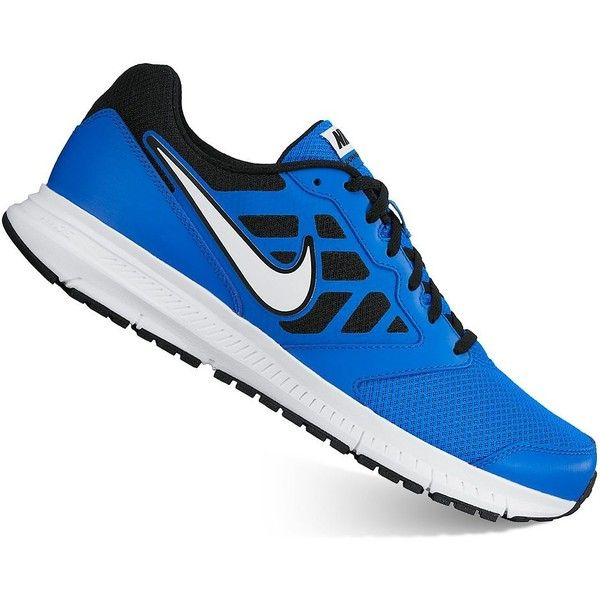 Nike Downshifter 6 Men's Running Shoes ($48) ❤ liked on Polyvore featuring men's fashion, men's shoes, men's athletic shoes, blue white, mens running shoes, mens lightweight running shoes, mens lace up shoes, nike mens shoes and mens athletic shoes