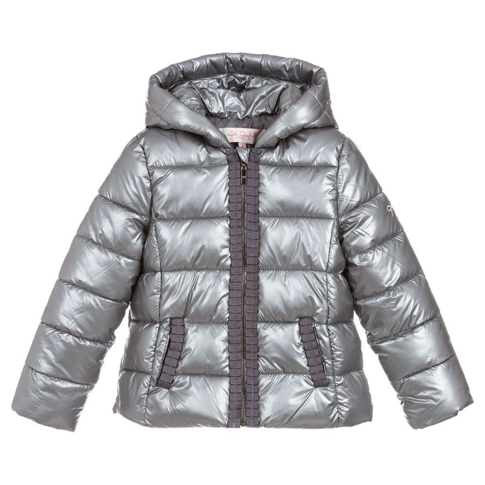 82fb2081a Girls Silver Puffer Jacket for Girl by Lili Gaufrette. Discover more ...