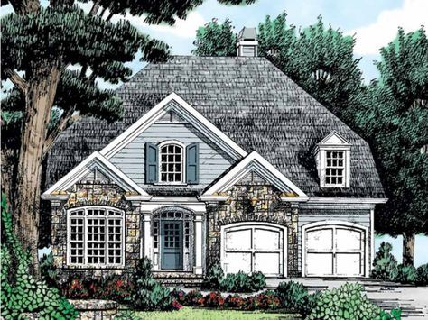 French Country Style 2 story 5 bedrooms(s) House Plan with 2419 total square feet and 3 Full Bathroom(s) from Dream Home Source House Plans
