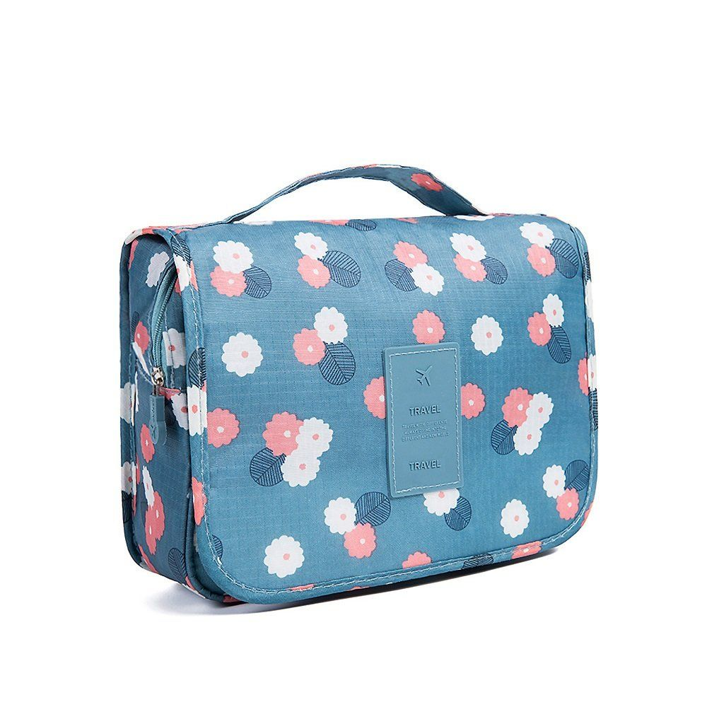 QMARK Hanging Cosmetic Travel Bag Organizer With Zipper Portable - Travel bag for bathroom items for bathroom decor ideas