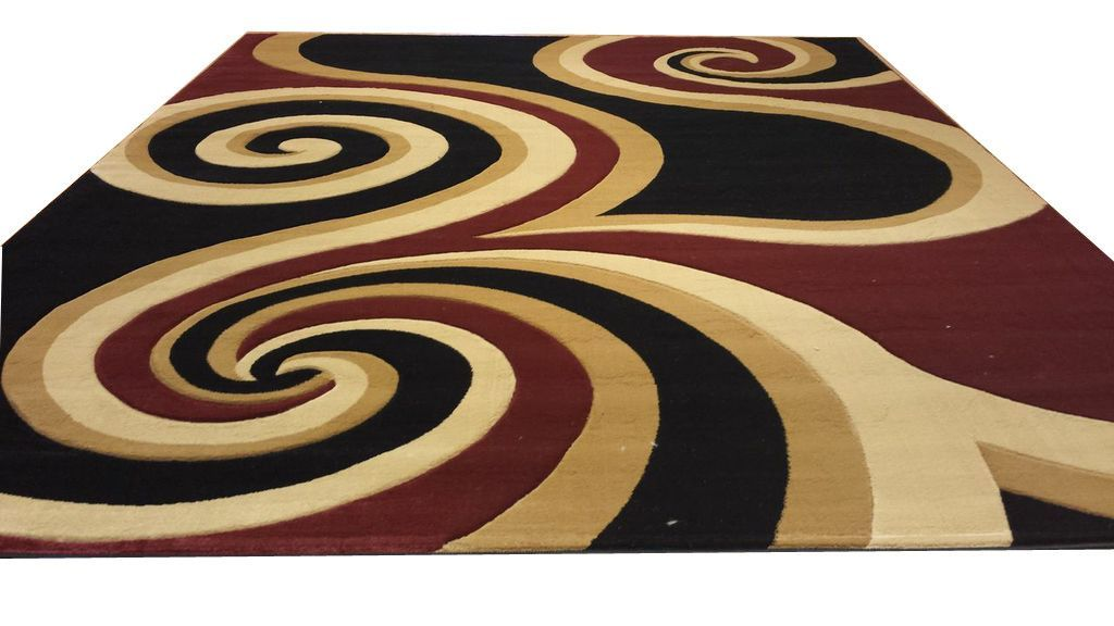 Abstract Black Red Brown Area Rug Area Rugs Plush Area Rugs Burgundy Rugs