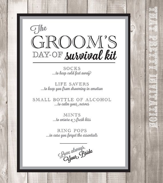 Check Out This Item In My Etsy Https Www Groom Survival Kitswedding Pingetsy Scardsgroomsengagementstyle