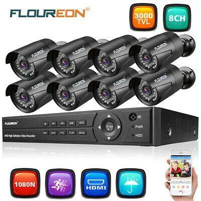 1080P POE Security Camera System 1080N 8CH NVR DVR Home CCTV DVR Night Vision US