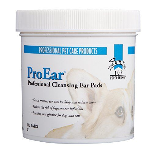 Dog Ear Care Top Performance Proear Cleansing Pads Safe And Effective Pads For Cleaning Pets Ears 100pack Want Dog Ear Cleaner Clean Pet Cleansing Pads
