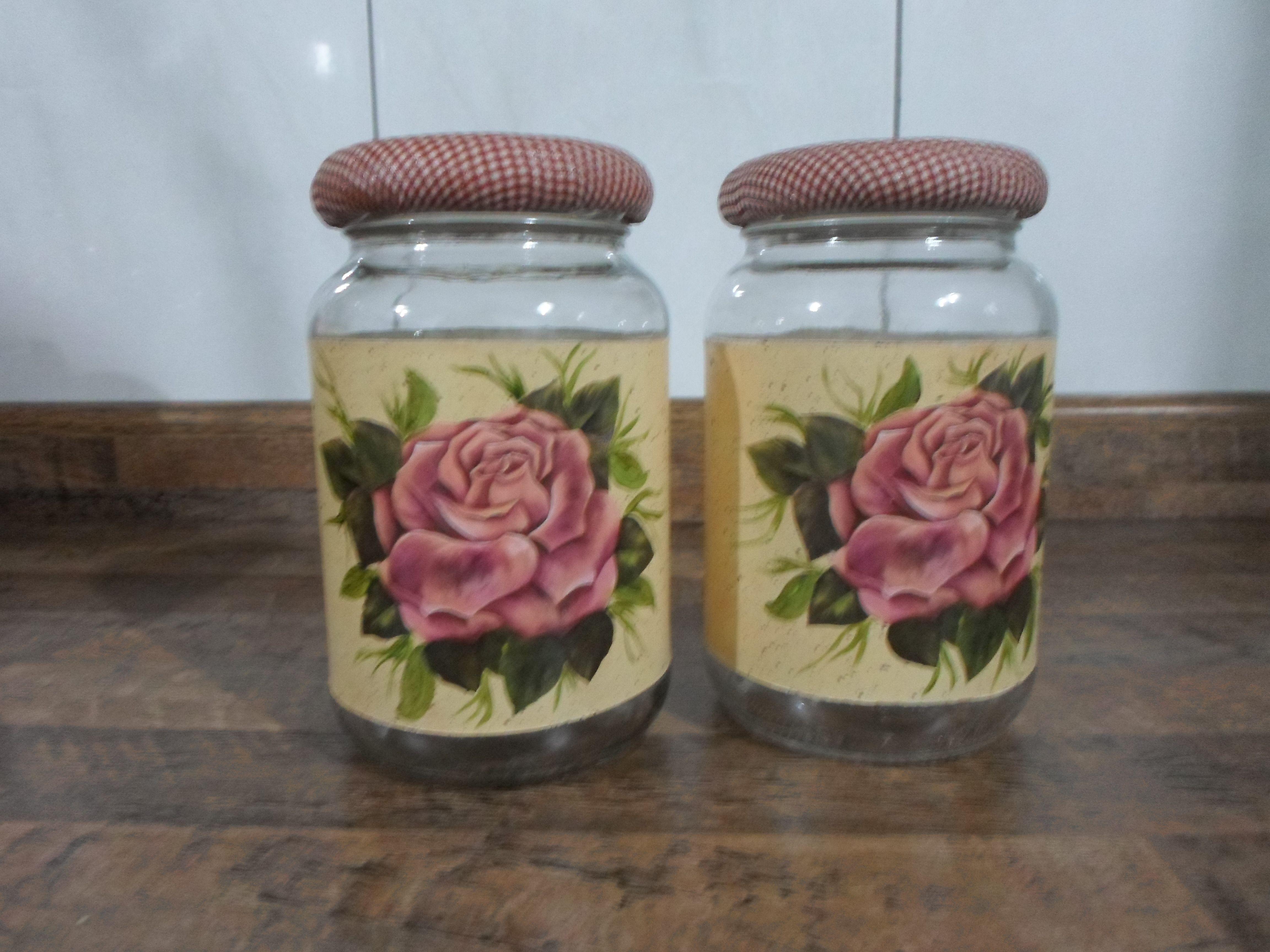 Pin Do A Ana Helena Kehl Em Potes De Vidro Decorativos  ~ Potes Decorativos Para Cozinha