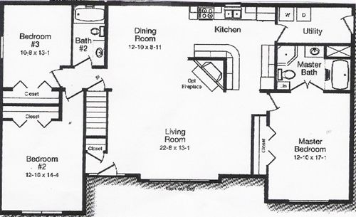 3 Room Floor Plan Inspiration