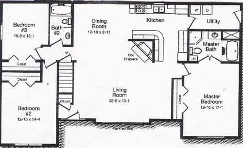 Excellent home living open floor plan design ideas excellent 3 bedroom windham open floor plan