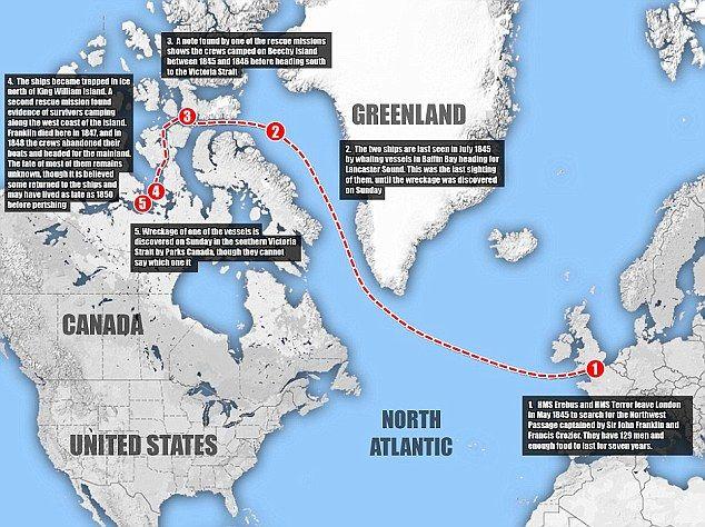 King Island Shipwreck Map
