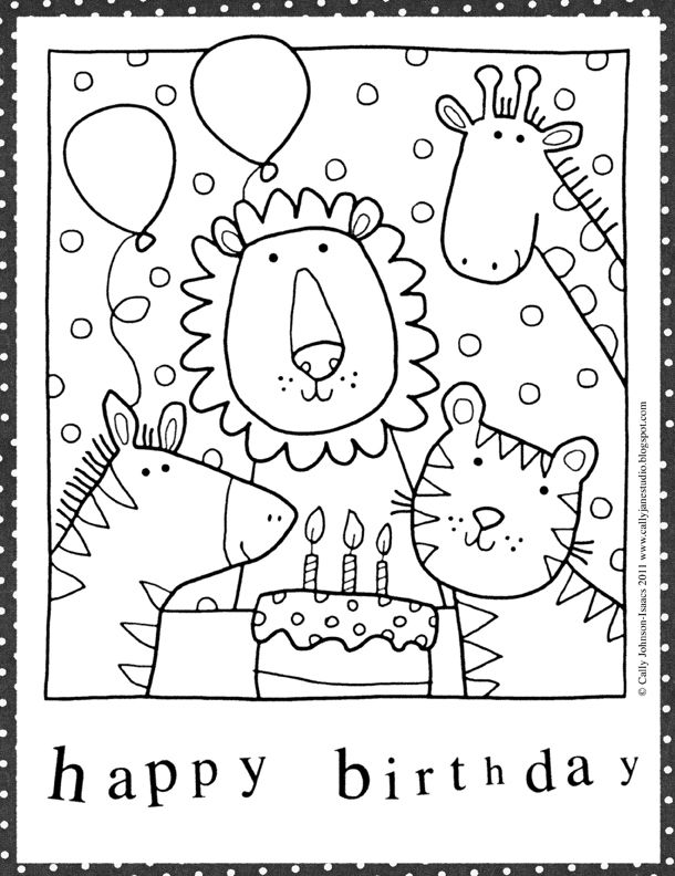 Downloadable Birthday Coloring Pages Birthday Coloring Pages