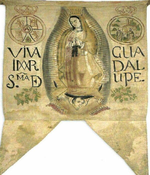 Pin De Vs Peralta En Reino De La Nueva Espana Estandarte De Hidalgo Virgen De Guadalupe Marcos Cipac De Aquino