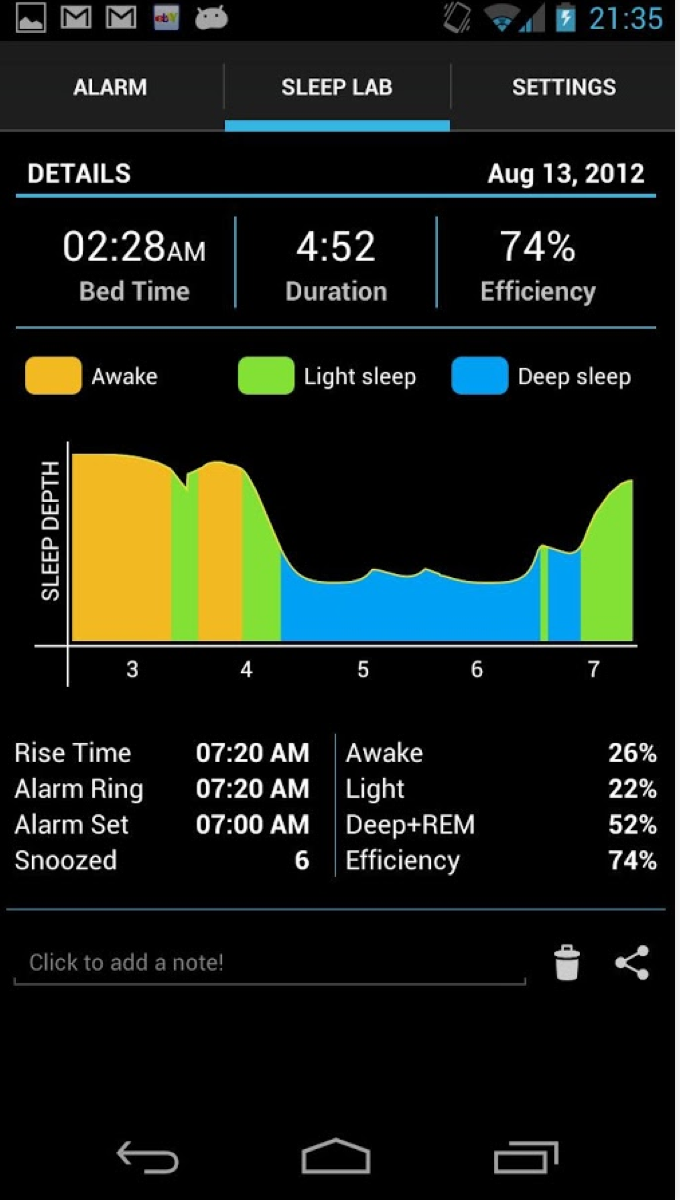 Sleep app for Android users that monitors quality  Is also
