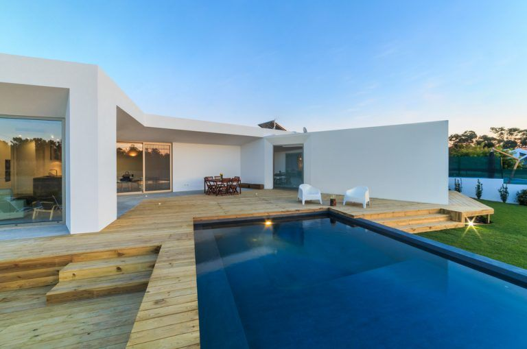 13 Awesome Pool Deck Ideas For Your Backyard Pool Backyard Pool Pool Decks Garden Swimming Pool