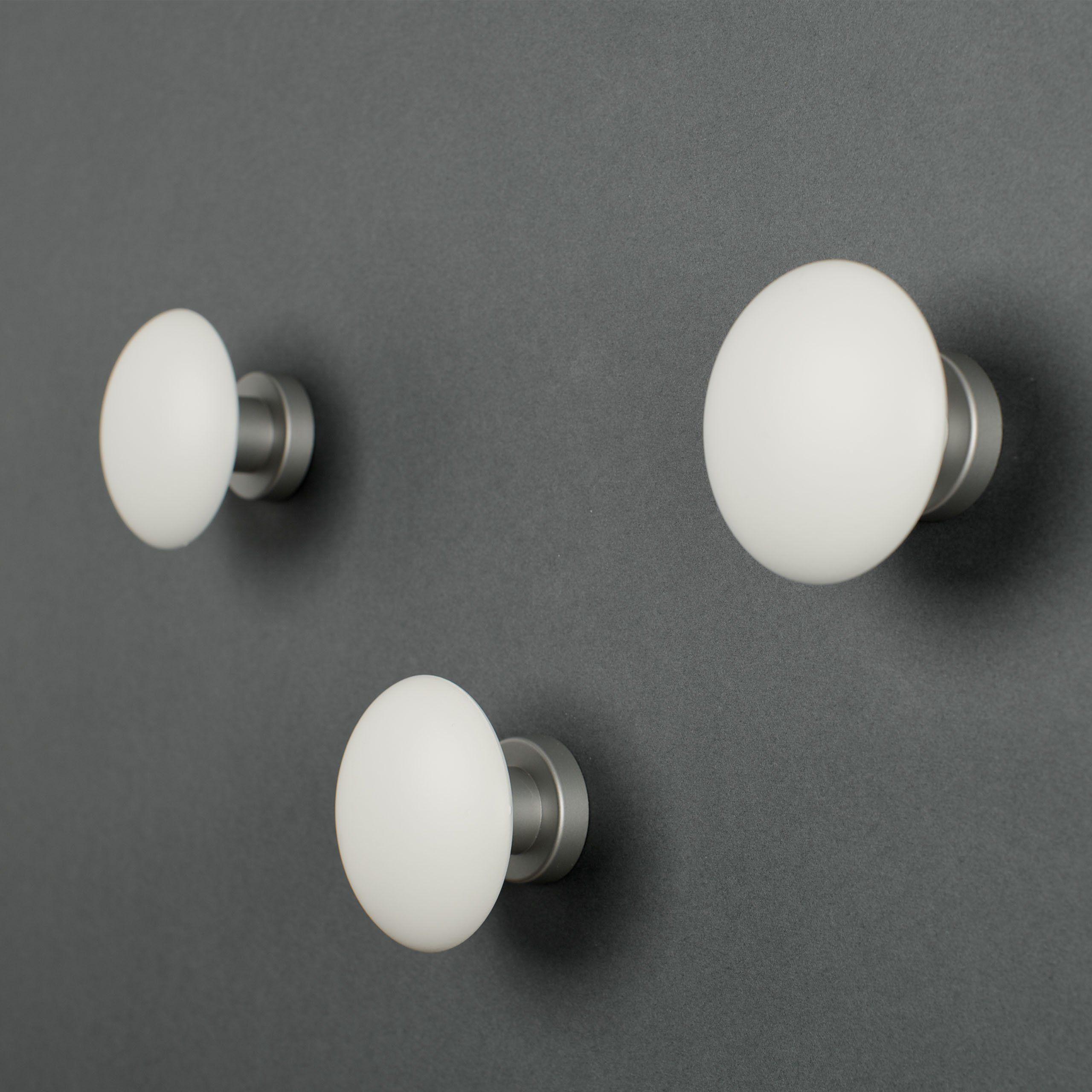 Attaccapanni Da Parete Bianco.3 Appendiabiti Element By Kreall Colore Bianco Confezione Da N 3