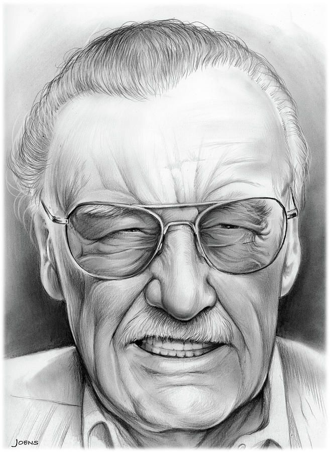 stan lee drawing by greg joens caricatures stan lee