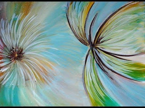 Sanfte Brise Acrylmalerei Einfach Malen Acrylic Painting Easy