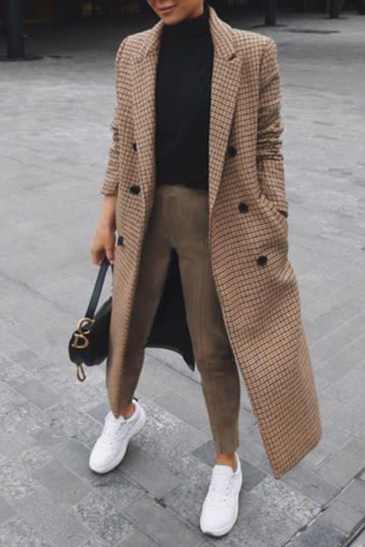 mode femme hiver tenue casual chic avec un long manteau. Black Bedroom Furniture Sets. Home Design Ideas