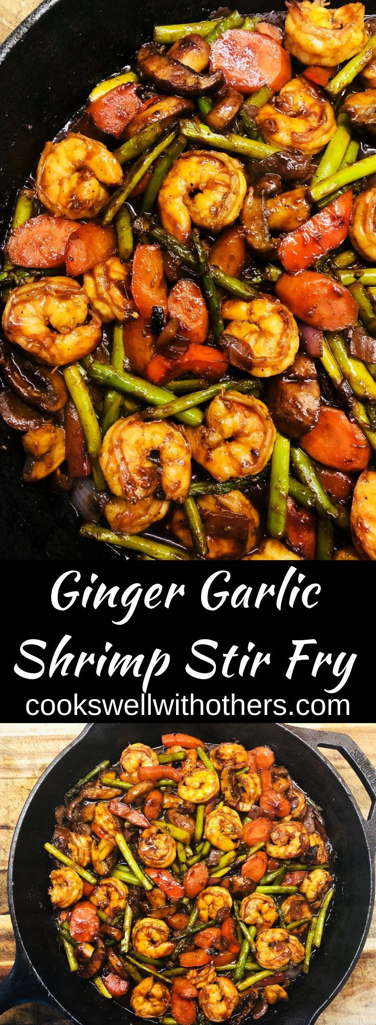 Ginger Garlic Shrimp Stir Fry