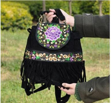 ETHNIC FAUX LEATHER EMBROIDRED SHOULDER BAGS *2 COLORS – BOHEMIAN MAMMA