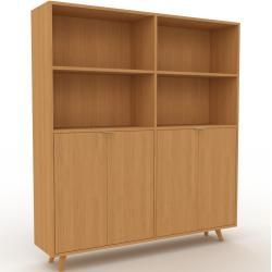 Photo of Aktenschrank Eiche – Flexibler Büroschrank: Türen in Eiche – Hochwertige Materialien – 152 x 168 x 3