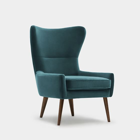 Erik Upholstered Wing Chair Leather Wing Chair Wing Chair