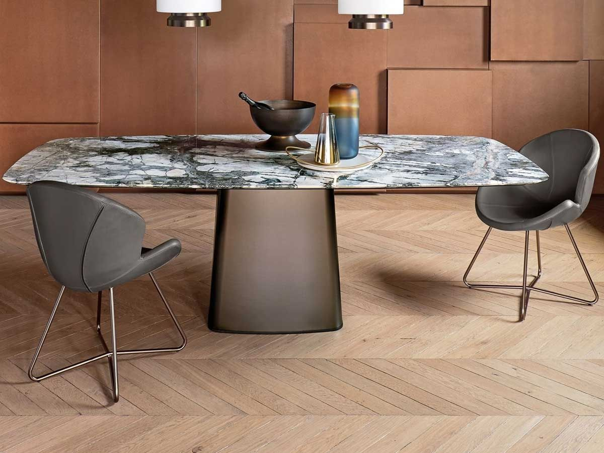Icon table by arketipo marble top dining table table