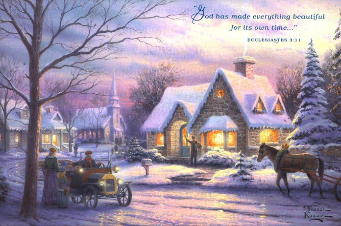 Currier And Ives Bing Images Kinkade Paintings Thomas Kinkade Art Thomas Kinkade Christmas
