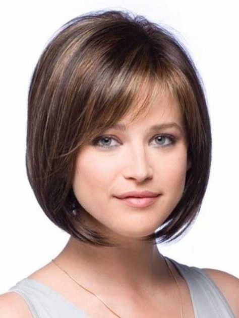 Hairstyles With Bangs For Round Face Hair Cut Pinterest Hair