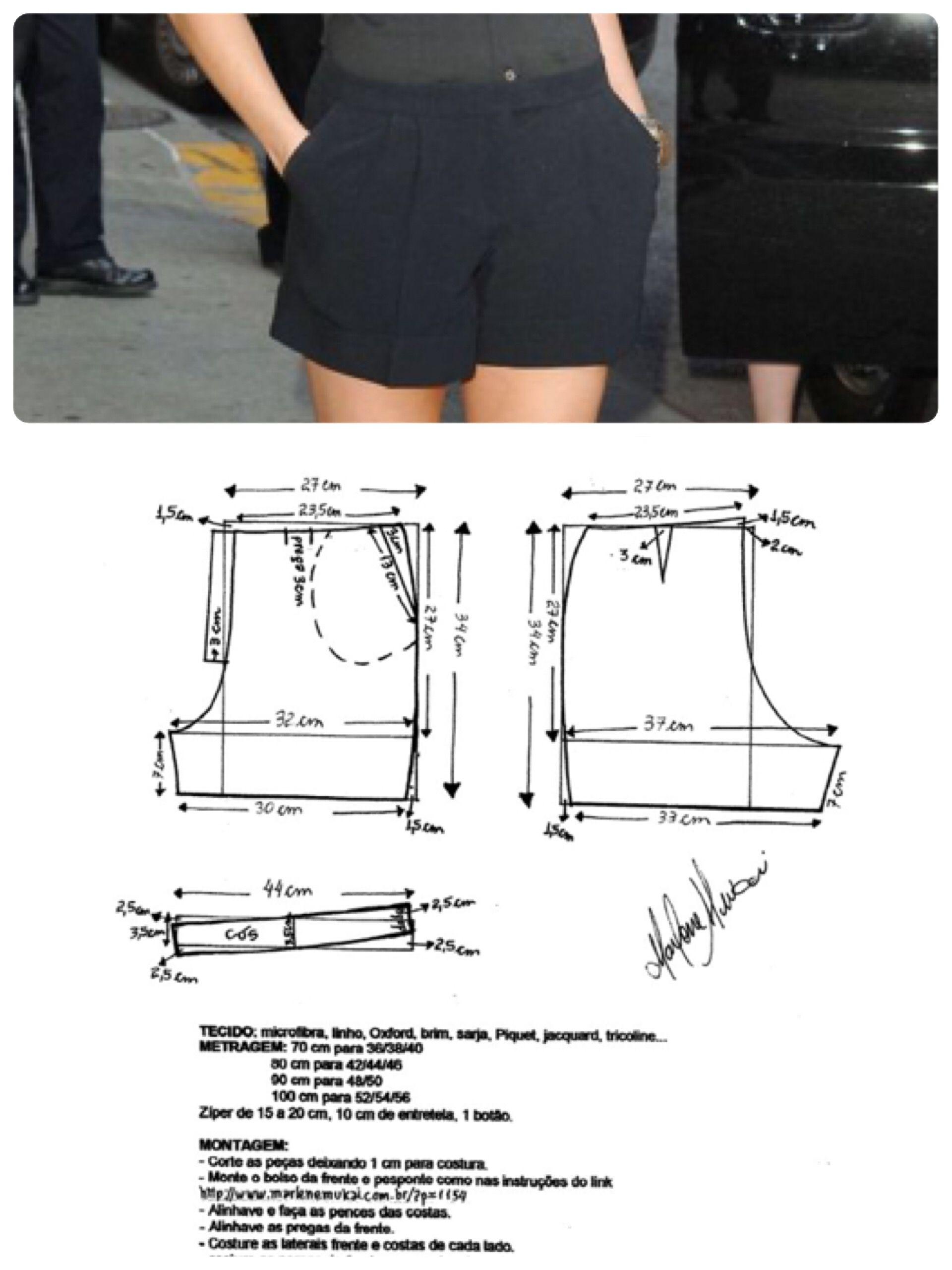 Short. pagina 8 | Patrones ❤ | Costura, Pantalones y Hacer pantalones