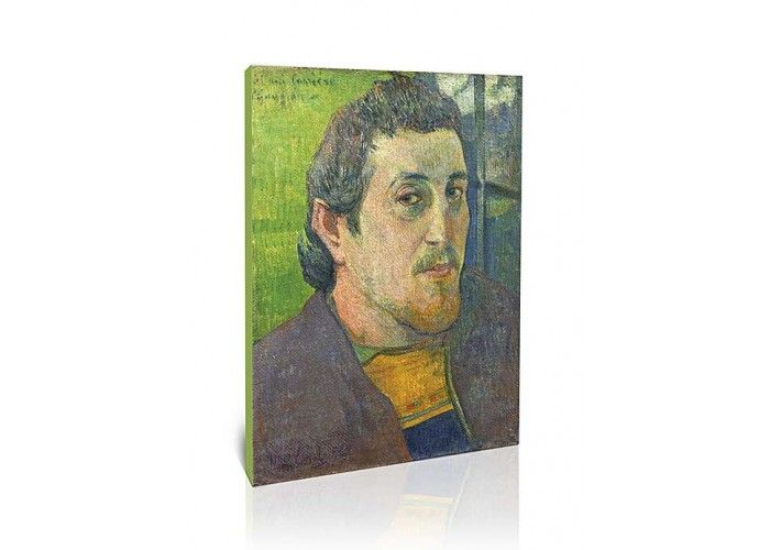 דיוקן עצמי בלזבאן - פול גוגן   תמונות קנבס לבית ולסלון   גאיה  Self Portrait At Lezaven  Paul Gauguin