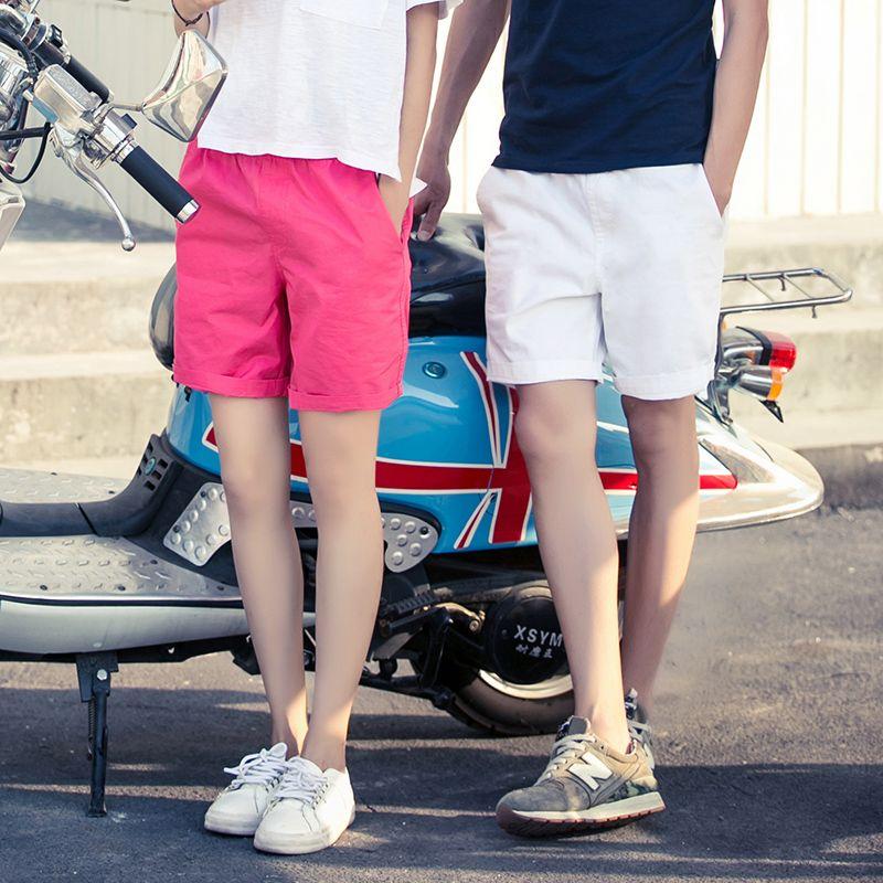 82e88c02b8 Harajuku Basic Casual Shorts Men Elastic Waist Classic Women Gay Shorts  Sweat Male Slim Fitness Straight Summer Short Pants