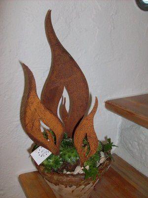edelrost flammen zur herbst/winterzeit - bestellbar bei www.ellas, Hause und Garten