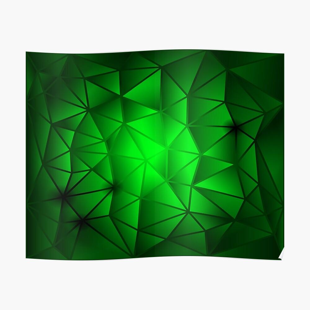 Green Triangle Tech Pattern Mask By Jc007
