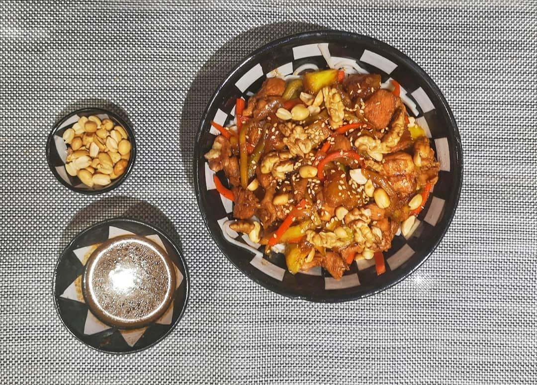Homemade wok because I love Asian food . .#chicken