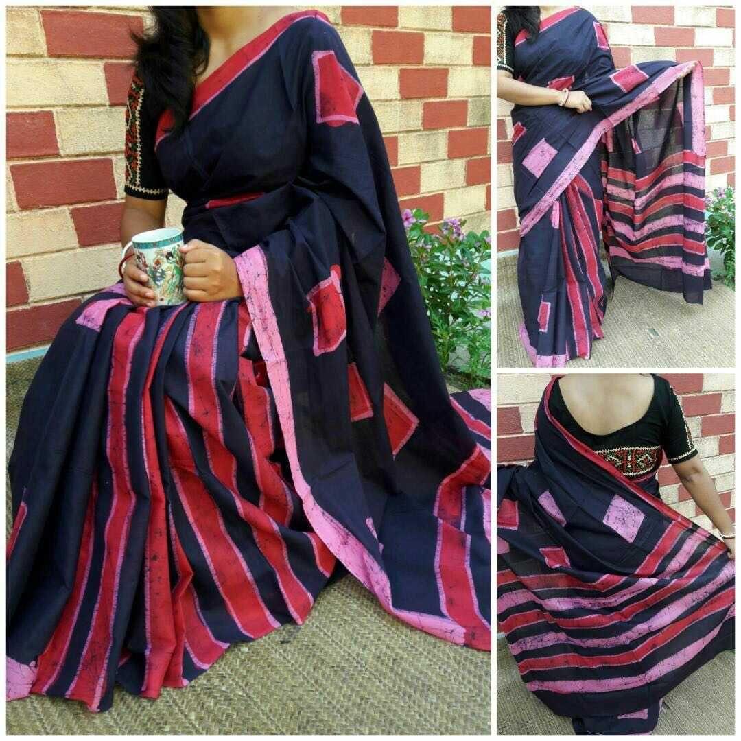 New Hand Made Batik Print Sarees