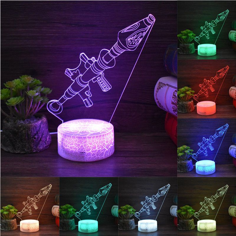 Battle Royale Game Fortnite 3d Led Night Light Action Figure Remote Table Lamp 3d Led Night Light Led Night Light Night Light