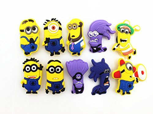 cbaf442747c6 8pcs Despicable Me Minion Shoe Charms for Jibbitz Croc Sh... http